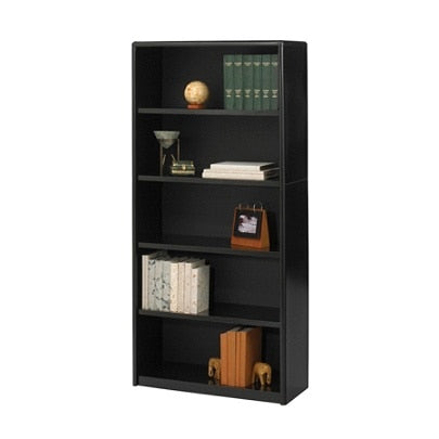 (Scratch & Dent) Safco Value Mate Steel Bookcase, 5 Shelves, Black