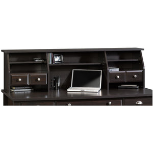 Sauder Outlet Shoal Creek Organizer Hutch, Jamocha Wood