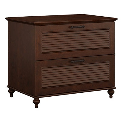 Bush Furniture Outlet Volcano Dusk Lateral File Cabinet, Coastal Cherry
