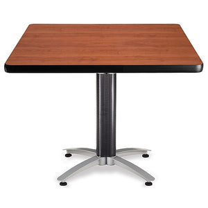 "OFM Multipurpose Table, Square, 42""W x 42""D, Cherry"