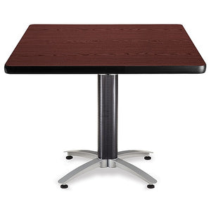 "OFM Multipurpose Table, Square, 42""W x 42""D, Mahogany"