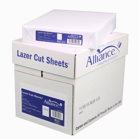 Alliance Laser Cut Sheet Outlet Paper, 8 1/2