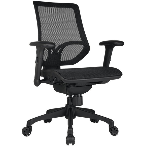 WorkPro Outlet 1000 Series Mesh Mid-Back Task Chair, Black