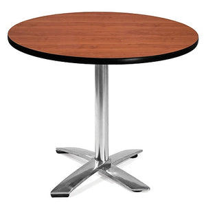 "(Scratch & Dent) OFM Outlet Multipurpose Folding Table, Round, 36""W x 36""D, Cherry"