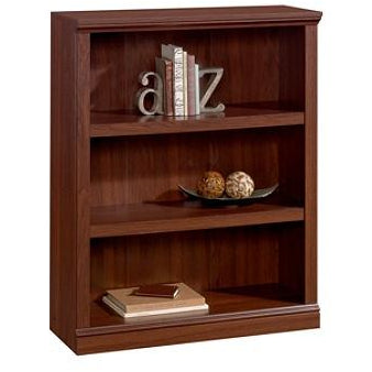 Realspace Outlet Premium Bookcase, 3-Shelf, Brick Cherry