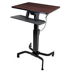 Ergotron Outlet WorkFit-PD Sit-Stand Desk, Walnut/Black