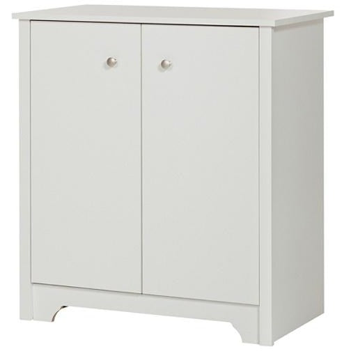 South Shore Vito Small 2-Door Storage Cabinet, Pure White