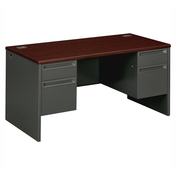 (Scratch & Dent) HON Outlet 38000 Series Double-Pedestal Desk, 60