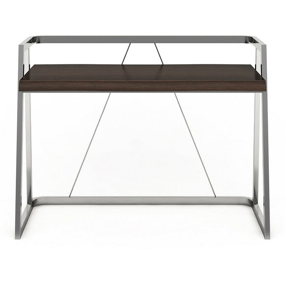(Scratch & Dent) Elle Décor Alliel Outlet Live Edge Desk, Brown/Silver