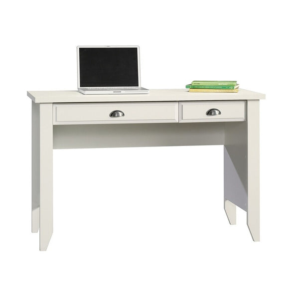 (Scratch & Dent) Sauder Outlet Shoal Creek Computer Desk with Flip Down Computer Tray, Soft White