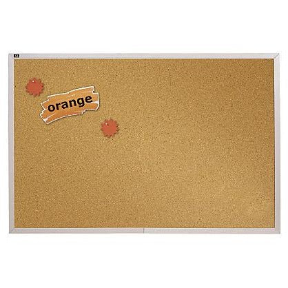 (Scratch & Dent) Quartet Education Cork Bulletin Board With Aluminum Frame, 48