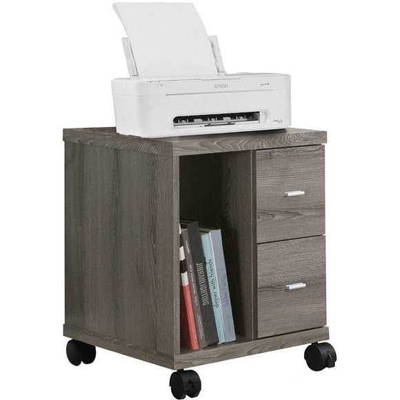 Monarch Specialties Outlet Mobile Office Cabinet, Dark Taupe