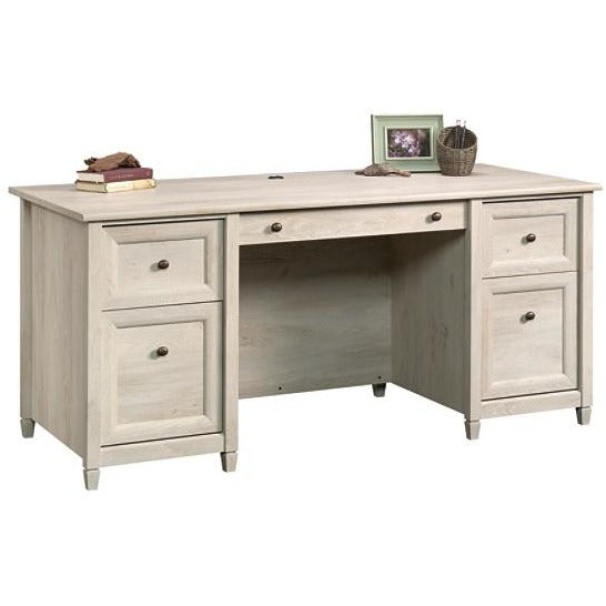 (Scratch & Dent) Sauder Edge Water Executive Desk, Chalked Chestnut