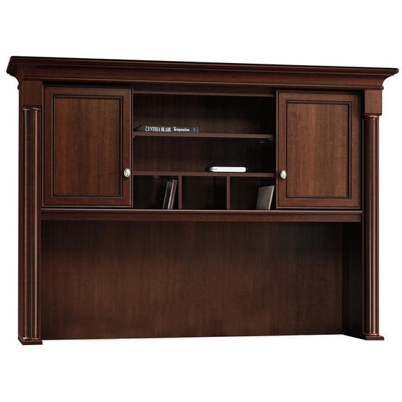 (Scratch & Dent) Sauder Outlet Palladia Collection Credenza Hutch, Select Cherry
