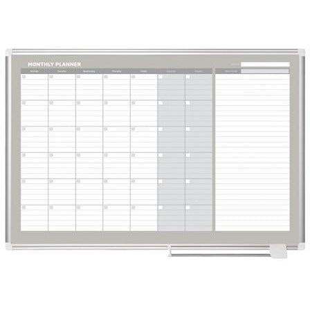 "(Scratch & Dent) MasterVision Outlet Dry-Erase Monthly Calendar Board, 36"" x 48"""