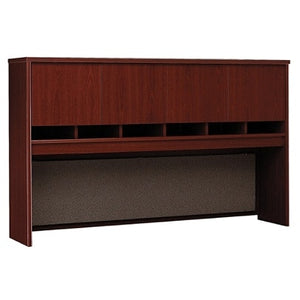 "Bush Business Outlet Furniture Components 4 Door Hutch, 72""W, Mahogany"