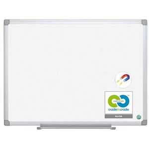 "MasterVision Outlet Earth Gold Ultra Magnetic Dry-Erase Board, Steel, 72"" x 48"", 45% Recycled, White, Aluminum Frame"