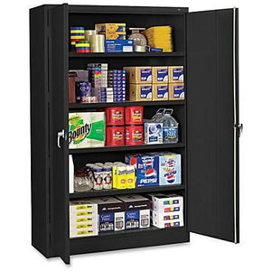 "(Scratch & Dent) Tennsco Jumbo Storage Cabinet, 5-Shelf, 78"" x 48""W, Black"