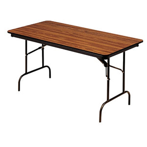 "Iceberg Premium Folding Table, Rectangular, 96""W x 30""D, Oak/Brown"