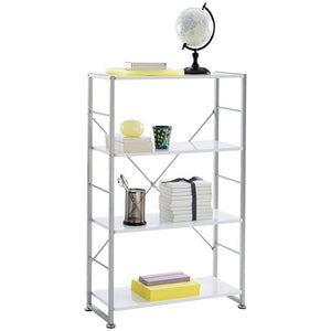 "Brenton Studio Outlet Halton 4-Shelf Bookcase, 46-3/4""H x 30""W x 12-1/8D, White"