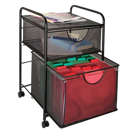 Innovative Storage Designs Mesh Hanging File And Storage Cart