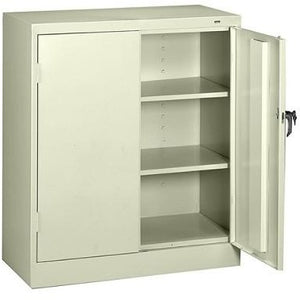 "(Scratch & Dent) Tennsco Counter-High Storage Cabinet With Reinforced Doors, 42""H x 36""W x 18""D, Putty"