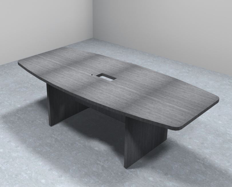 Sheridan 8-Ft. Boat-Shaped Conference Table with Silver Rectangular Grommet, 94.5