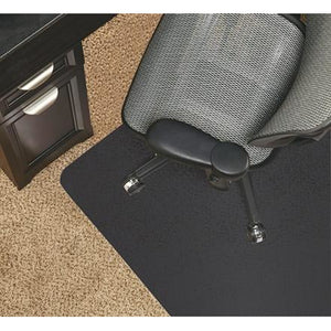 "Realspace Outlet Black Vinyl Chair Mat For Low-Pile Carpets, Studded, 36""W x 48""D"