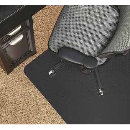 Realspace Outlet Black Vinyl Chair Mat For Low-Pile Carpets, Studded, 36