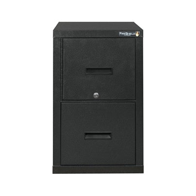 (Scratch & Dent) FireKing FireShield Vertical File Cabinet And Safe, 2 Drawer, Black Stone