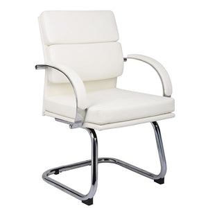 "Boss Outlet Caressoft Plus Guest Chair, 36 1/2""H x 24""W x 24""D, White"