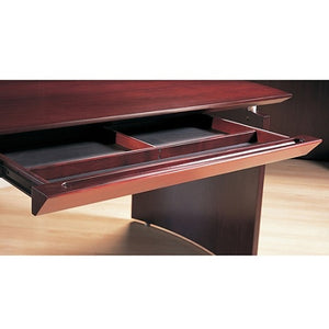 "Mayline Outlet Group Napoli Center Desk Drawer, 2""H x 30""W x 18""D, Mahogany"