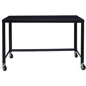Lorell Steel Mobile Series Workstation, 4'W, Black