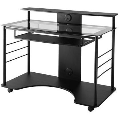 Realspace Outlet Mobile Tech Desk, Black