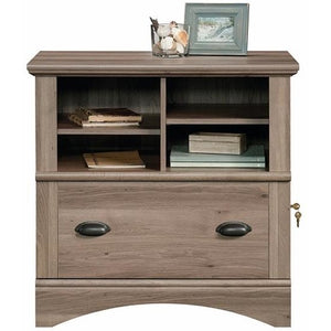Sauder Harbor View Letter Size/Legal Size Lateral File Cabinet, 1 Drawer, Salt Oak