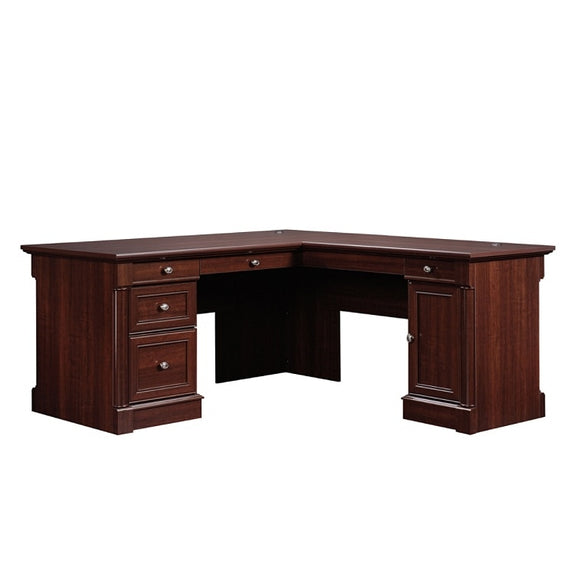 (Scratch & Dent) Sauder Outlet Palladia Collection L-Shaped Desk, Select Cherry