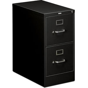 "(Scratch & Dent) HON 510 Series Vertical File, 2 Drawers, 25"" D, Black"