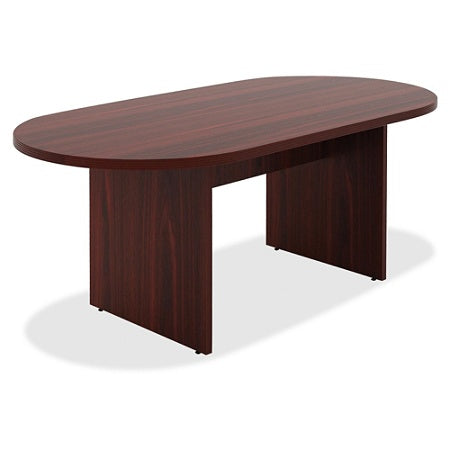 Lorell Outlet Chateau Series Oval Conference Table, 6'W, Mahogany