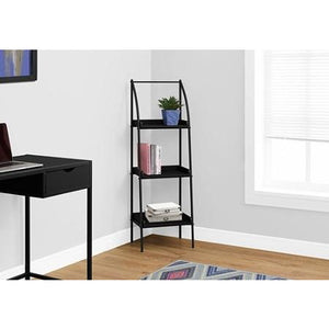 Monarch Specialties 3-Shelf Backless Metal Bookcase, Black