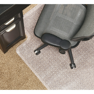 "Realspace Economy Chair Mat For Low-Pile Carpets, 36""W x 48""D, Studded, Standard Lip, Clear"