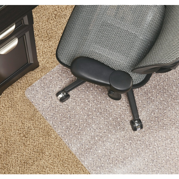 Realspace Berber Chair Mat For Low-Pile Carpets, Studded, 46