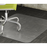 "Realspace Berber Chair Mat For Low-Pile Carpets, Studded, 46""W x 60""D, No Lip, Clear"