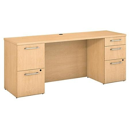 Bush Business Furniture 300 Series Office Desk With 2 Pedestals 72