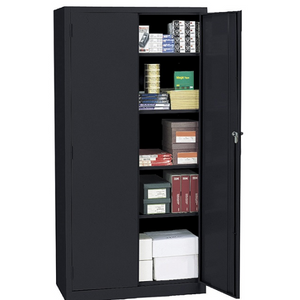 "(Scratch & Dent) Realspace 72"" Steel Storage Cabinet With 4 Adjustable Shelves, 72""H x 36""W x 18""D, Black Item # 945822"