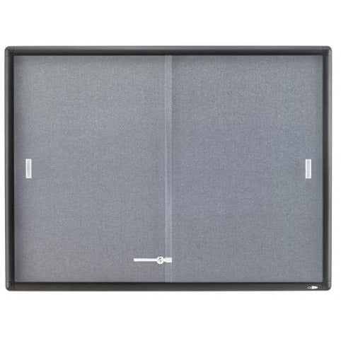 (Scratch & Dent) Quartet Outlet Sliding Door Fabric Bulletin Board, 36