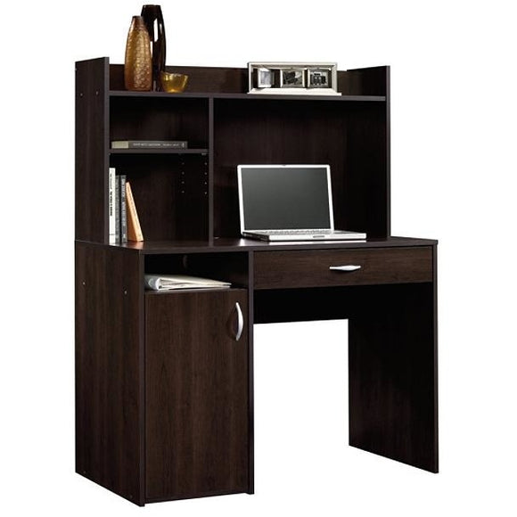 Sauder Beginnings Desk With Hutch, Cinnamon Cherry