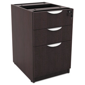 Alera File Drawer pedestal, Box/Box/File, Espresso