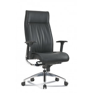 Pres High-Back Executive Black Leather Chair