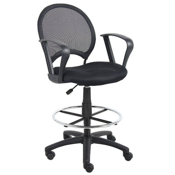 Mesh Drafting Stool with Loop Arms