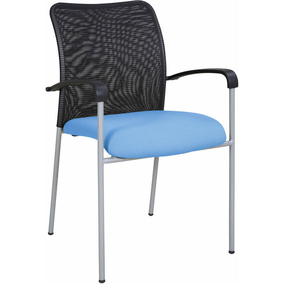 Weston Mesh Stackable Visitor Chair, Blue